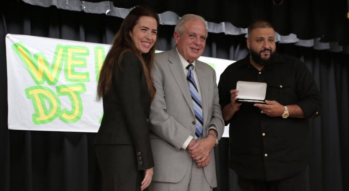 DJ Khaled Donates $5k To Miami Middle School. Is Given Key To The City